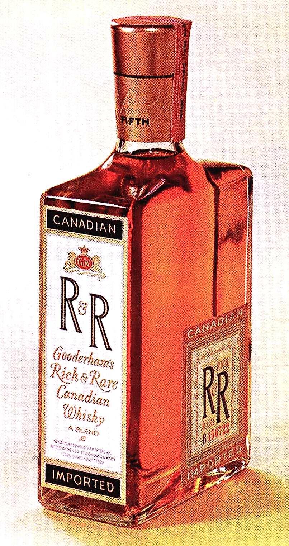 1960s whisky bottle by Gooderham's