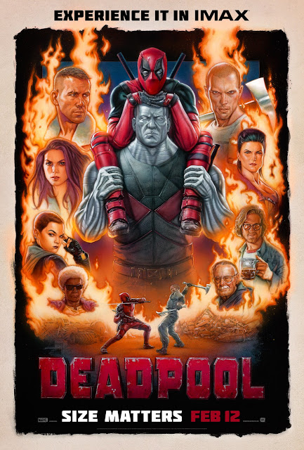 Deadpool Theatrical One Sheet IMAX Teaser Movie Poster