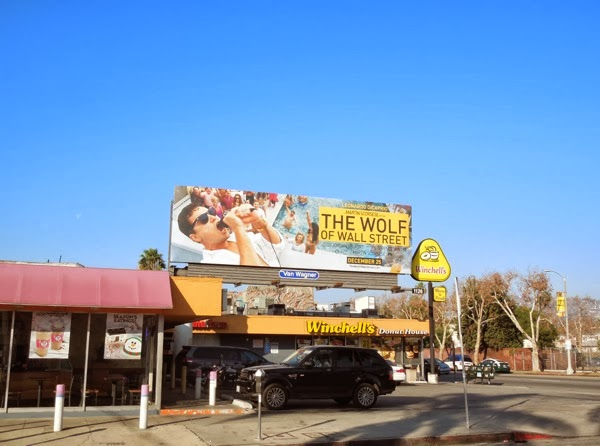 Wolf of Wall Street movie billboard