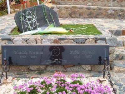 Foto del lugar donde se encuentra el cuerpo de Pablo Neruda