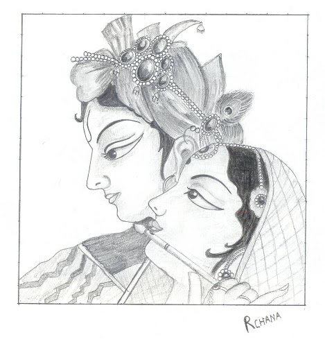 Lord radha krishna so many artists have tried drawing this photo