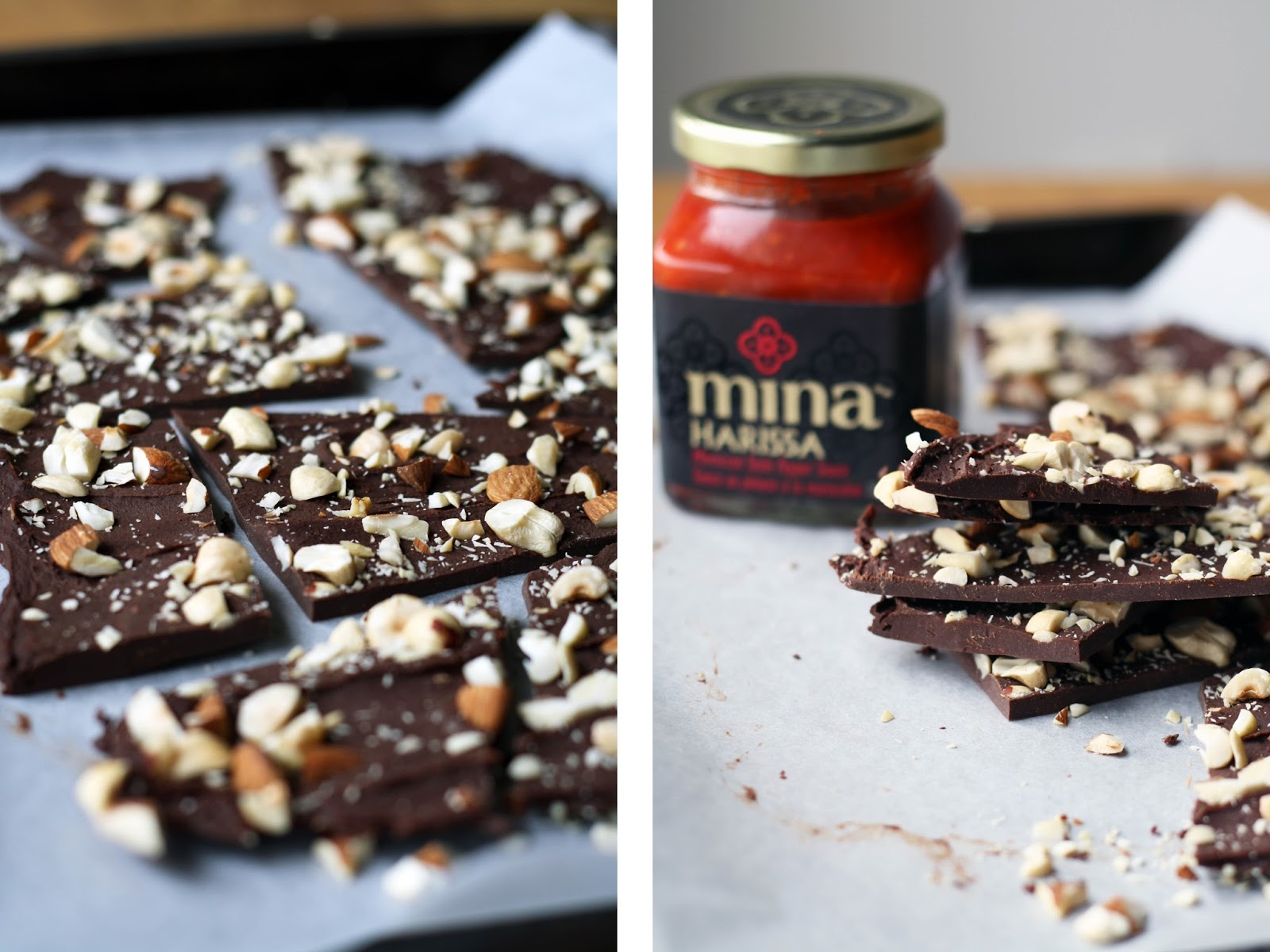 Harissa Chocolate Bark with Mixed Nuts | Sevengrams
