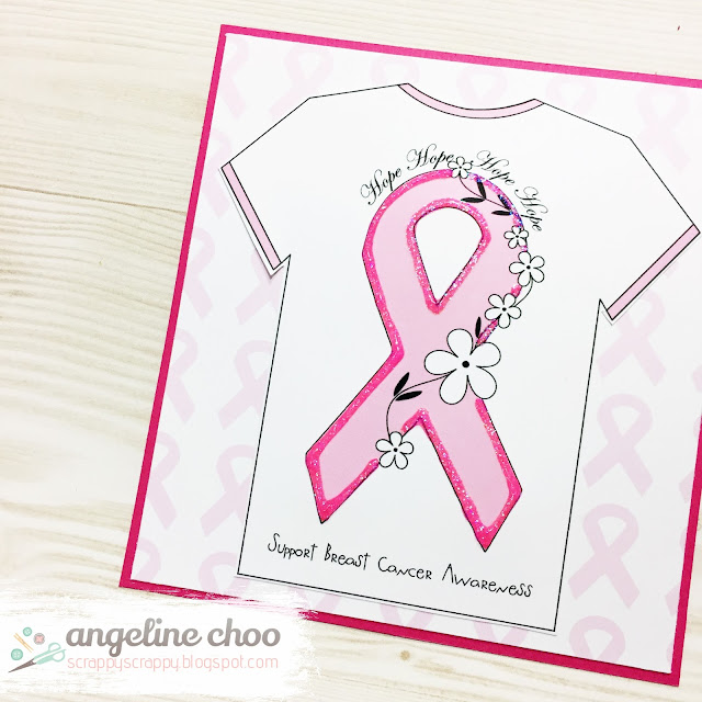 ScrappyScrappy: Think Pink with The Cutting Cafe #scrappyscrappy #thecuttingcafe #breastcancer #card #cardmaking #thinkpink #printable #papercraft