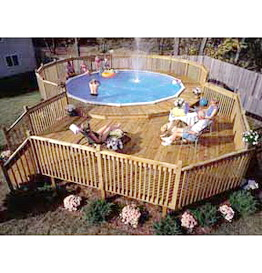 Shed plans how to build a above ground pool deck wooden plans - How to build an above ground pool ...