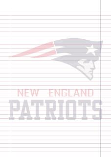 Papel Pautado New England Patriots PDF para imprimir na folha A4