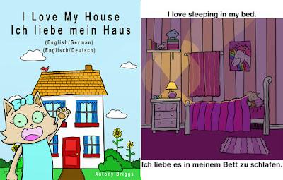 bett machen englisch, flashcard books: learn german, Design ideen