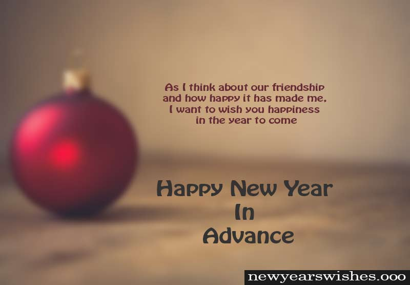 very happy new year advance wish