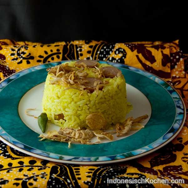 Nasi Goreng Kurkuma indonesisch kochen