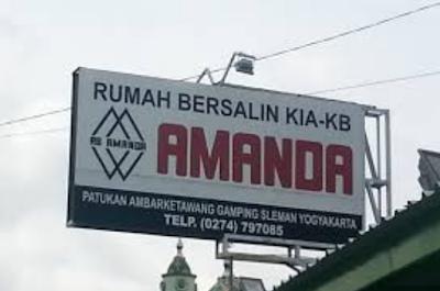 Peta Lokasi, Alamat dan Nomer Telepon Rumah Bersalin KIA-KB Amanda Ambarketawang Gamping