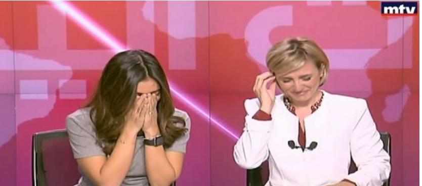 بالفيديو .. ما الذي جعل مذيعتي اخبار لبنانيتين تضحكان بشكل هستيري على الهواء ؟