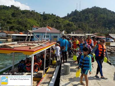 peserta gathering pahawang naik perahu