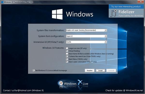 Windows 10 Transformation Pack