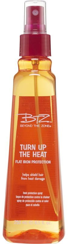 Click here to buy BEYOND THE ZONE TURN UP THE HEAT PROTECTION SPRAY, one of the best for protecting natural hair during heat styling.