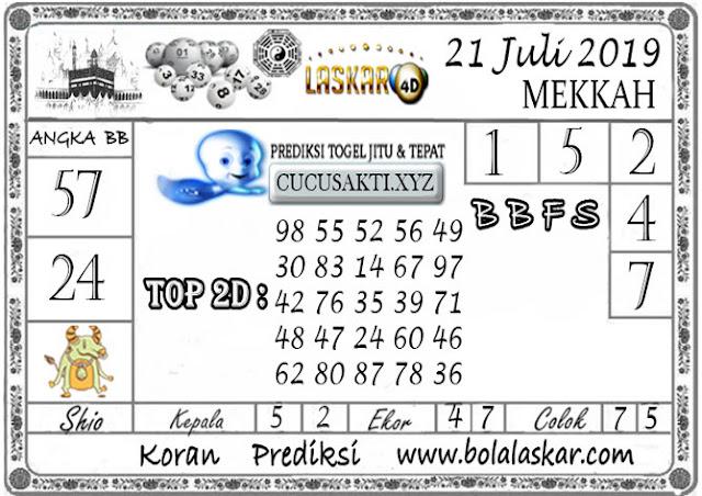 Prediksi Togel MEKKAH LASKAR4D 21 JULI 2019