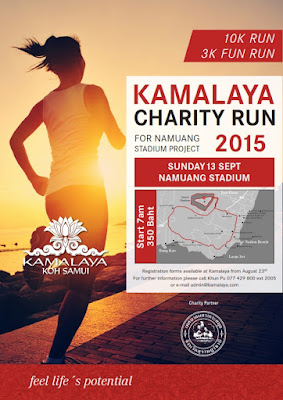 Kamalaya Charity Run is coming up Sunday 13th September
