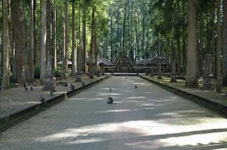 Wisata Bukit Sari Sangeh, Bercengkerama Dengan Monyet