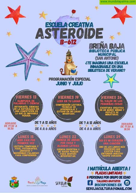 """BREÑA BAJA: Escuela Creativa de Verano """"Asteroide B-612"""""""