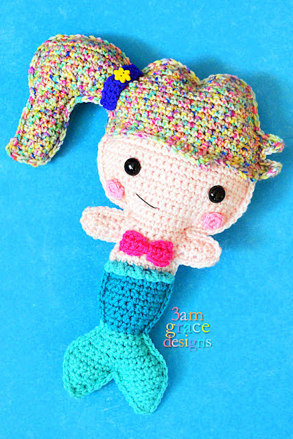 mermaid Kawaii Pillow Cuddler Crochet Pattern