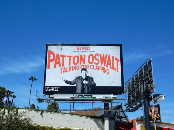 Patton Oswalt Talking for Clapping netflix billboard