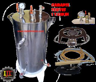 Setrika Uap Boiler 10 Liter Indah Mesin