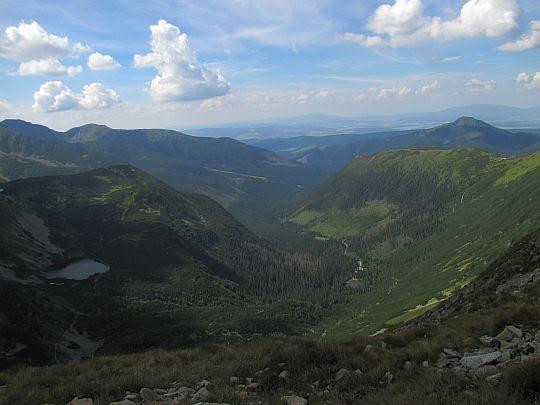 Dolina Rohacka z Jamnickiej Przełęczy.
