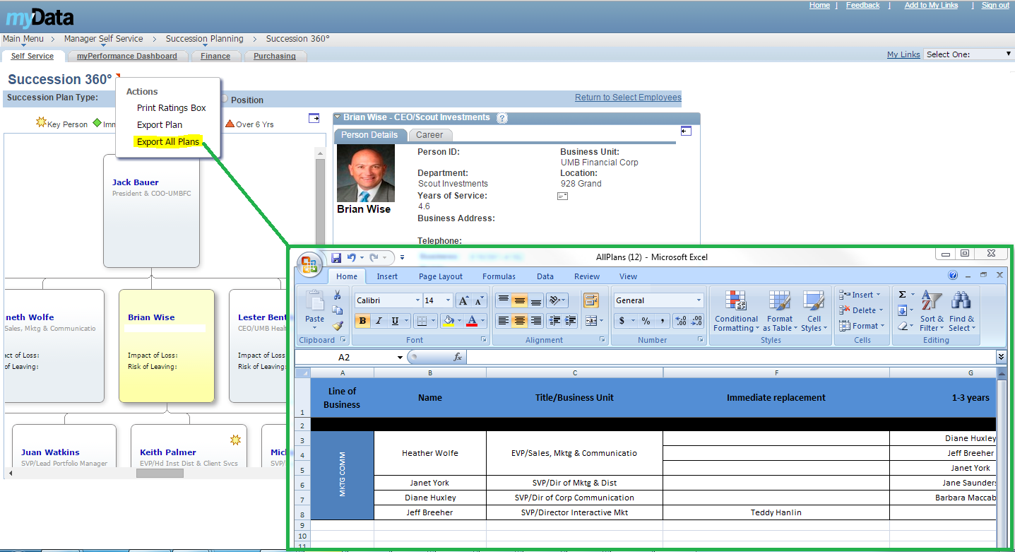 peoplesoft development create xls reports from related actions