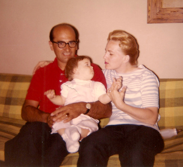 One of the very few photos of me with both my parents, Frank and Mary (Dixon) Traina.