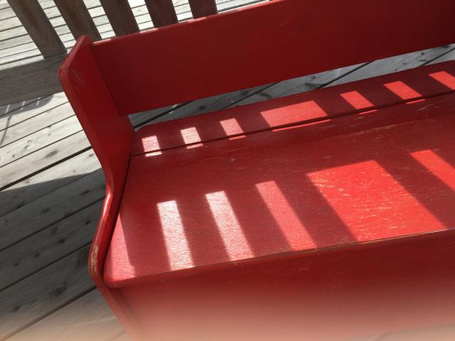 Kinderholzbank rot