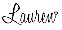 This picture shows the black image of Lauren Huntley, Stampin' Up! Demonstrator for the UK's signature, and it appears at the bottom of every blog post.