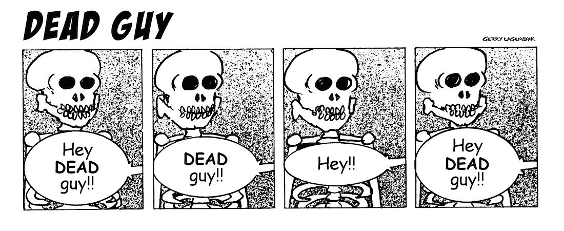 Skeleton cartoon, Lagendyk, Dead Guy