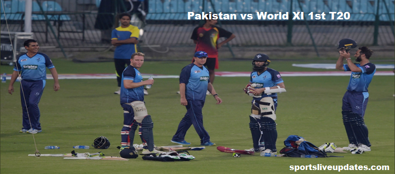 Pakistan vs World XI 1st T20 Match