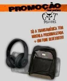 Cadastrar Promoção Transamérica Cat Dealers - Fone Beats e Mochila Personalizada