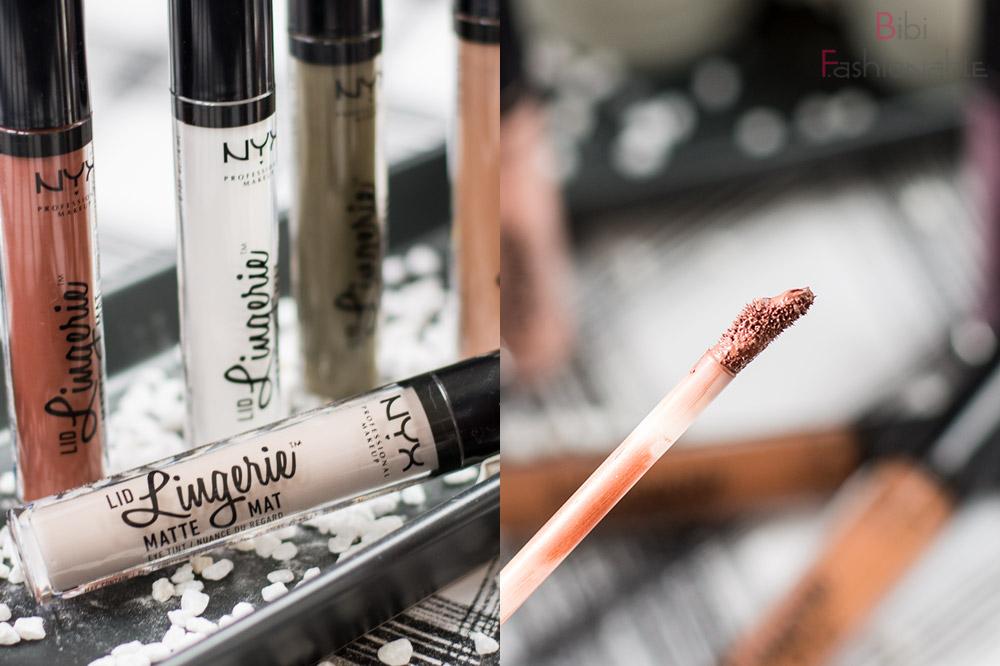 NYX Cosmetics Lid Lingerie Matte Eye Tint Phiole nah Applikator