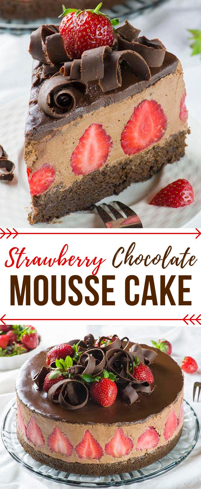 Strawberry Chocolate Cake #dessert #partycake