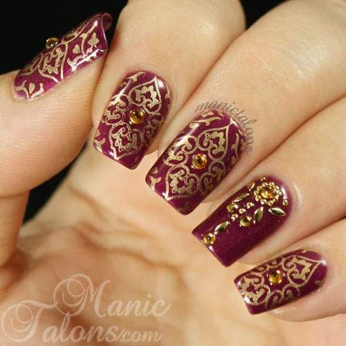 Henna Inspired Nail Art Designs