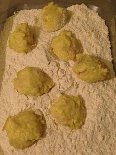 Bolitas de jamón y mozzarella, preparación 4