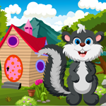 Games4King Cute Skunk Rescue Walkthrough