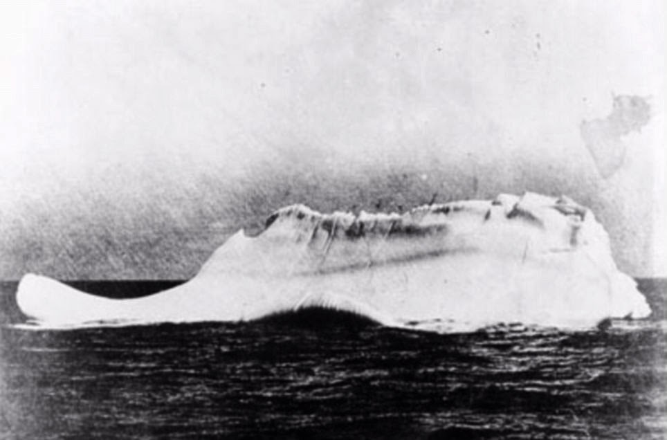 Photography of an iceberg from the cable ship