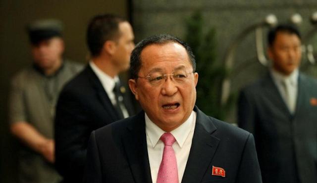Menteri Luar Negeri Korea Utara Ri Yong-ho.