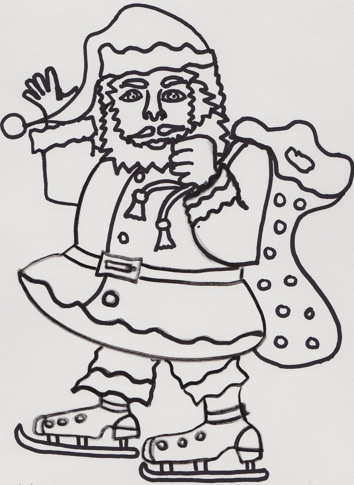 Frau Lukas Bloggt Ausmalbild Weihnachtsmann Oder Nikolaus