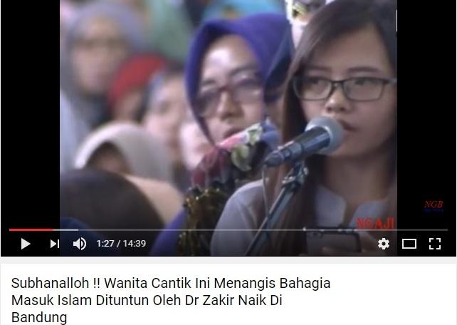 Akal-Akalan Show Dzakir Naik:Novita Putri Sudah Islam Sejak Kecil Tapi Diskenariokan Baru Masuk Islam