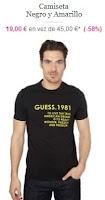 camiseta barata guess