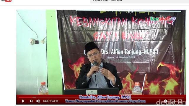 BAHAYA !! Ust.Alfian Tanjung : Saya Tidak Asal Bicara, PKI Kerap Gelar Rapat Tengah Malam di Istana