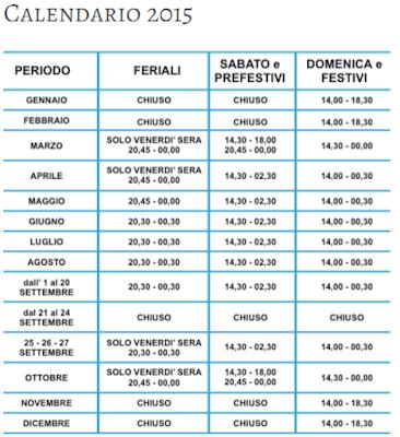 Calendario Europark Idroscalo