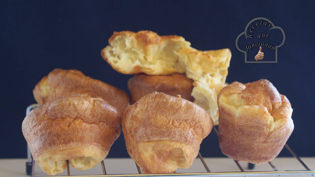 Popovers Los bollitos de pan de solo 3 ingredientes y en 20 minutos