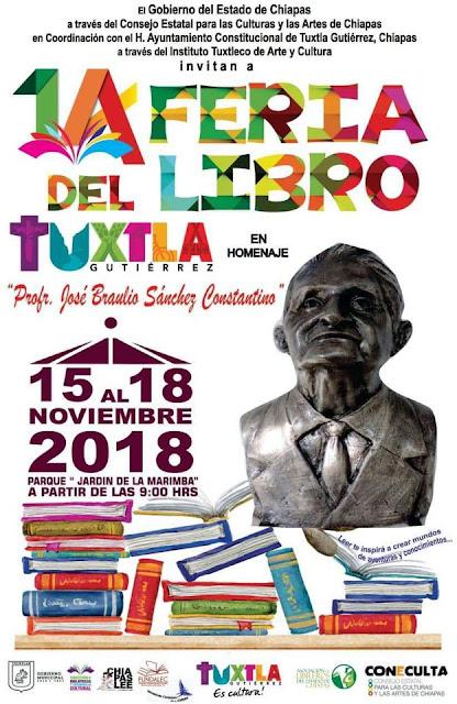 feria del libro tuxtla gutiérrez 2018