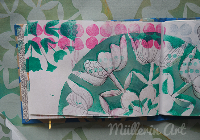 Tulpendruck Skizzenbuch  © Müllerin Art