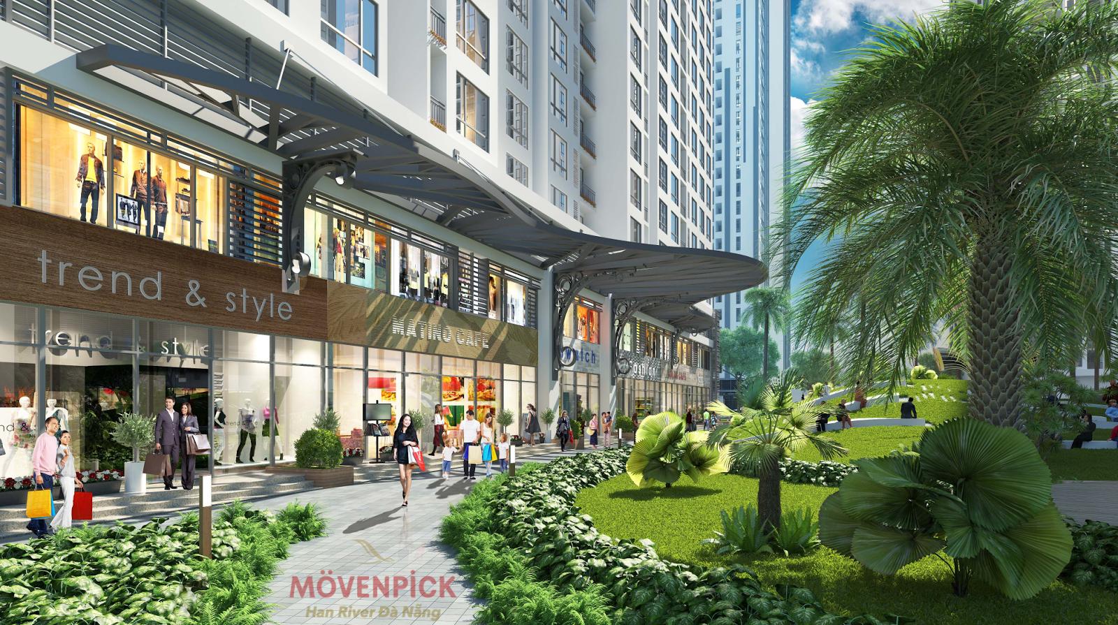 Không gian xung quanh dự án Movenpick Đà Nẵng