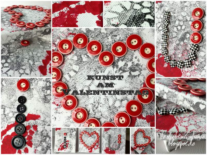 Very Simple DIY Kunst am Valentinstag I ♥ U Collage