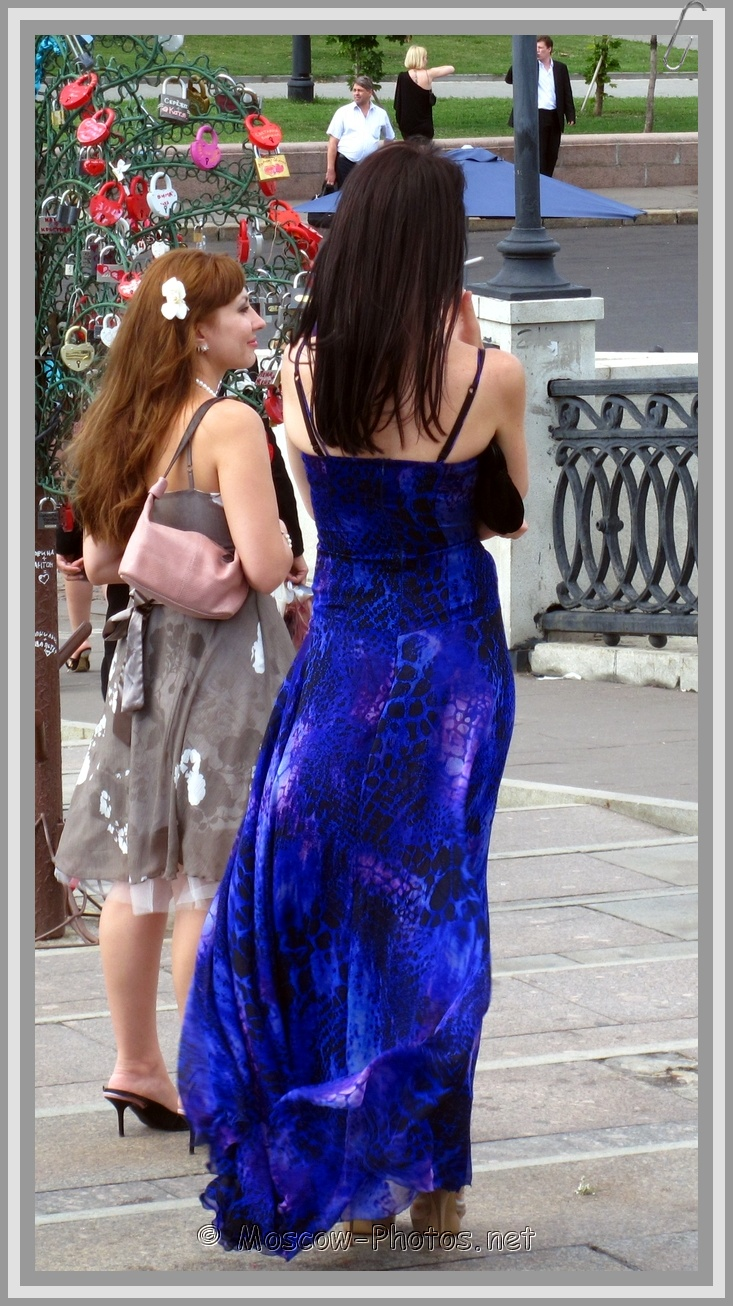 Moscow Girls In Party Dresses